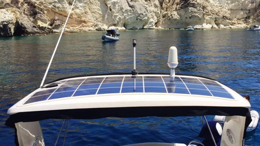 solar on a boat