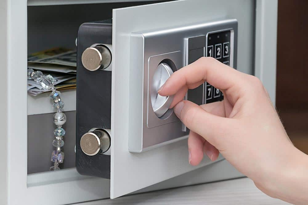 secure your valuables in a safe