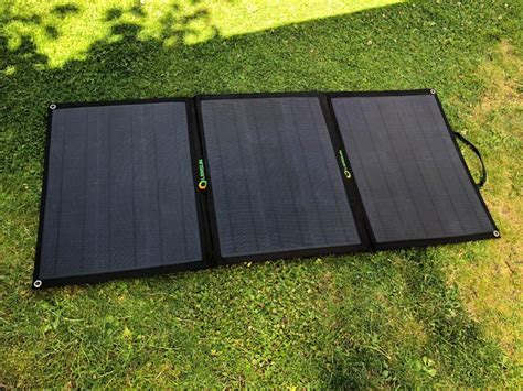 foldable solar panel on the grass
