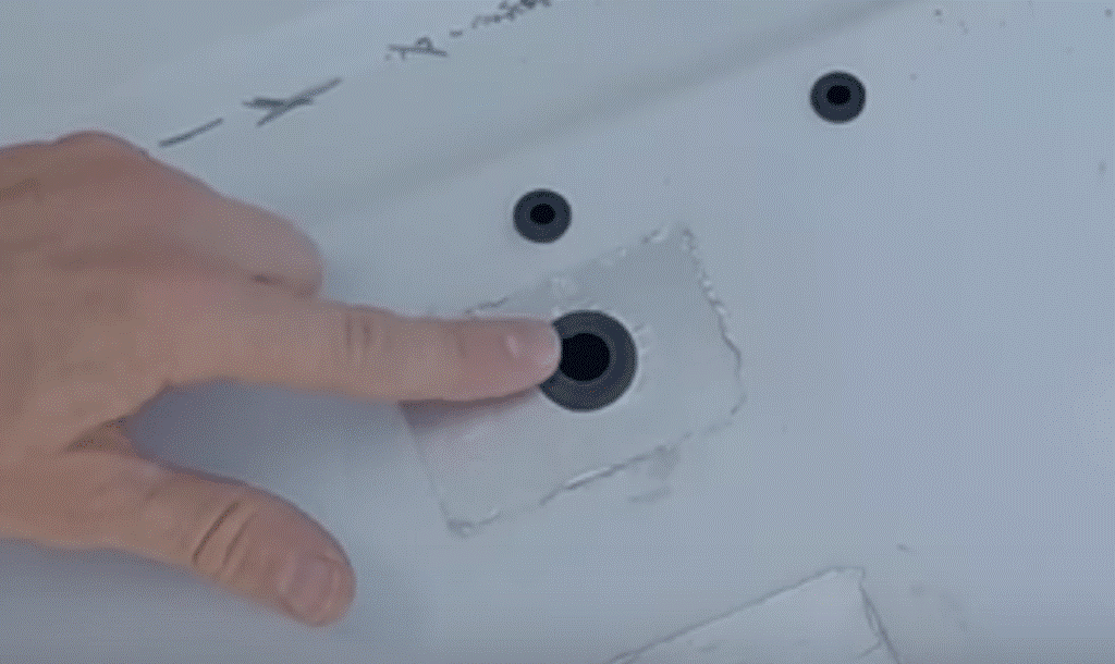 holes with grommets