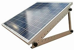 inclined mount solar panel